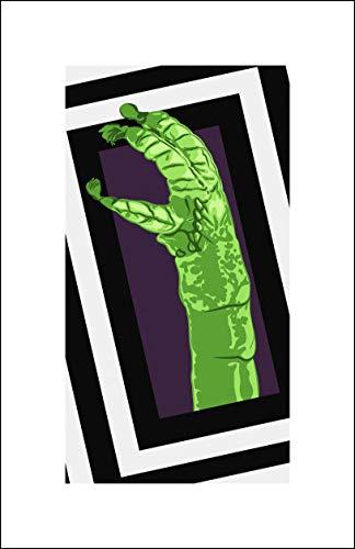 Plaid Design Beetlejuice/Shrimp Cocktail Hand Pop Art - 11x17 - Signed/Numbered Limited Edition Giclée/Fine Art Print/Artwork by John Lathrop - Ed Hand Numbered Fine Art