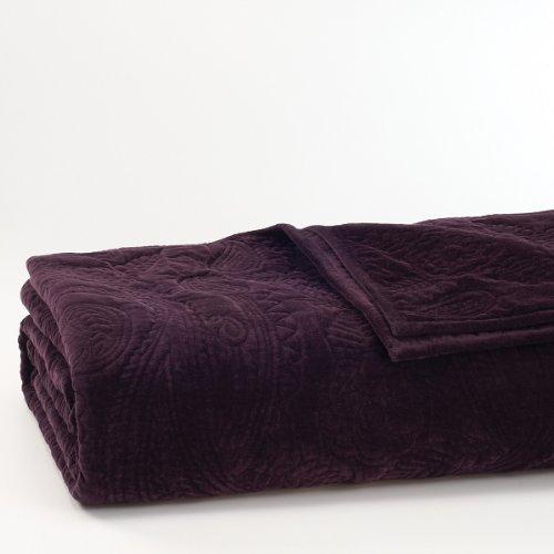 Lauren By Ralph Lauren New Bohemian Velvet Paisley queen Quilt- Luxurious Rich Black - New Black Paisley