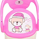 BAYBEE Small Portable Soft Cushion Plastic Chair for Kids Upto 30 Kg (Pink)