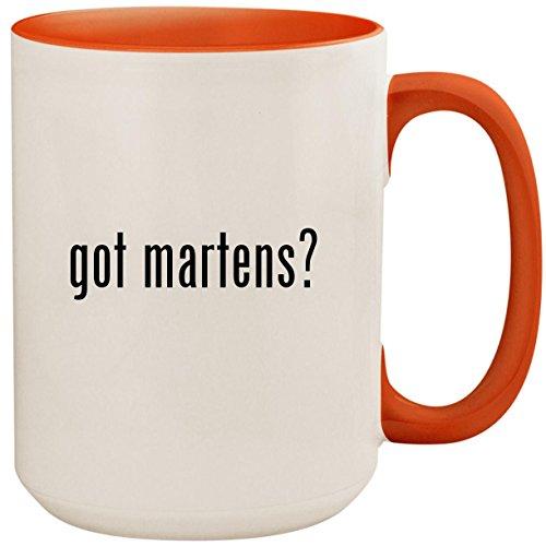 - got martens? - 15oz Ceramic Colored Inside and Handle Coffee Mug Cup, Orange