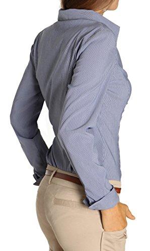 bestyledberlin Chemise pour femme, Stretch blouse t25z XL bleu clair