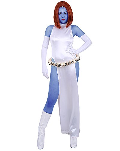 [Miccostumes Womens X-Men Mystique White Dress Cosplay Costume (WS)] (Women X Men Costumes)