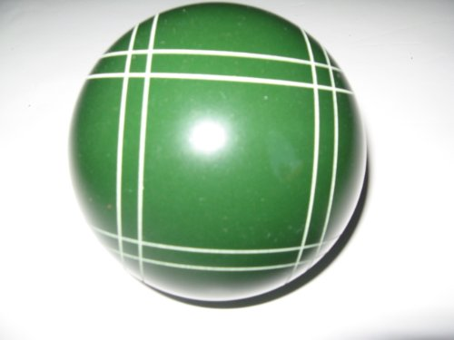 Epco Replacement Bocce Ball with Close Curvey stripes - single green 107mm by Epco