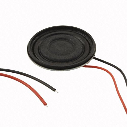 Speakers & Transducers speaker, 36 mm round, 6.2 mm deep, paper, Nd-Fe-B, 2 W, 8 O, 360 Hz, 152 mm wire leads (5 pieces)