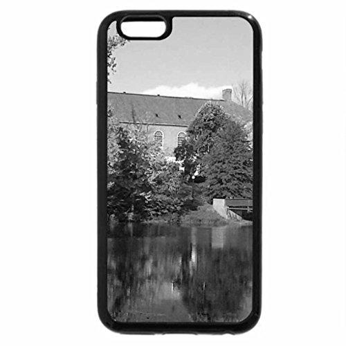 iPhone 6S Plus Case, iPhone 6 Plus Case (Black & White) - Beautiful Autumn Scene
