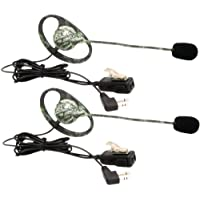 MIDLAND AVPH7 2-Way Radio Accessory (Outfitters Camo GMRS Headset with Microphone & PTT, 2 pk)