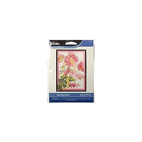 Bucilla Counted Cross Stitch Mini Picture Kits, Bleeding Hearts 046109 - Floral Counted Cross Stitch