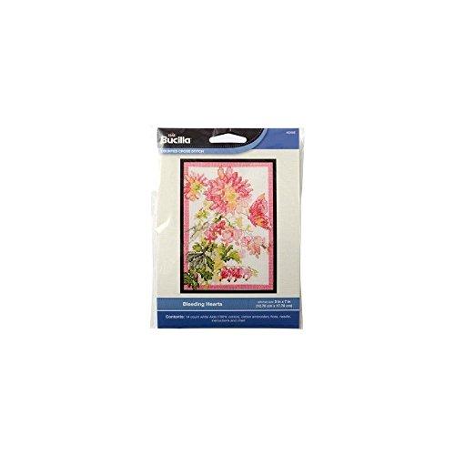 Bucilla Counted Cross Stitch Mini Picture Kits, Bleeding Hearts 046109