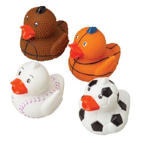 Rhode Island Novelty Assorted Sports Themed Rubber Ducks Duckies (12)