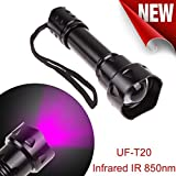 WindFire T20 IR 38mm Lens Infrared Light Night Vision LED Torch Zoomable -to Be Used with Night Vision Device (Infrared Light is Invisible to Human Eyes) -No Battery Included