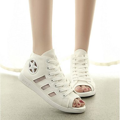EU40 Sandals Comfort US9 Pu Women'S Spring White RTRY CN41 Casual Black UK7 FxBzg54q