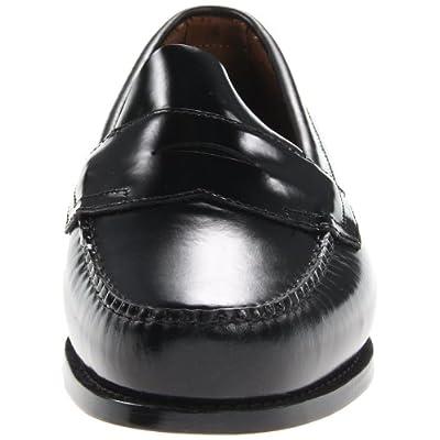 G.H. Bass & Co. Men's Logan Flat Panel Loafer, Black, 12 D | Loafers & Slip-Ons