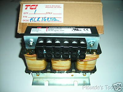 TCI 16 amp KLR Series 3 PH Line Reactor, KLR16CTB (Series Tci)