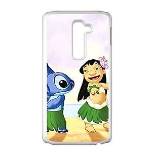 LG G2 Cell Phone Case White Disneys Lilo and Stitch Qrfa
