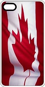 Canadian Maple Leaf Flag White Plastic Case for Apple iPhone 6 Plus