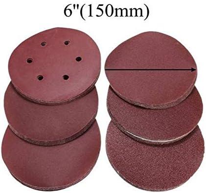 ZANYUYU Abrasives 60pcs 6 Inch Self Adhesive Mixed Grit Sanding Discs 60-320 Grit Sanding Polishing Pad Tool