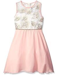 Girls' Embroidered Bodice To Chiffon Skirt Social Dress