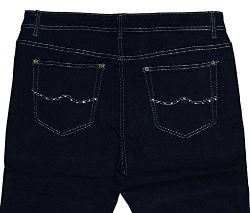 Vidy'l Dunkelblau Jeans Straight Donna 771 868rqvwxp
