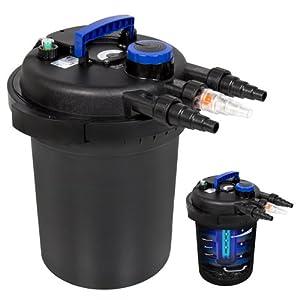 Best Choice Products 4000 Liter Pressure Bio Filter with Uv Sterilizer Light Koi, 13W