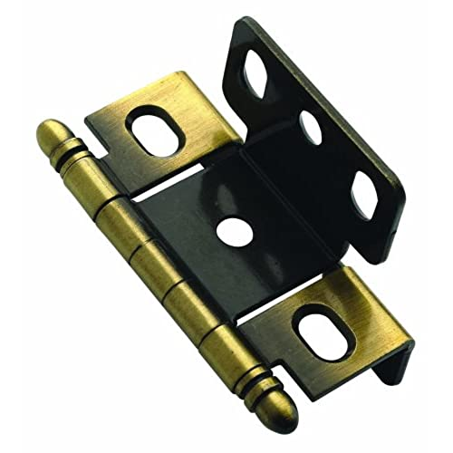 Amerock PK3175TBAE Full Inset, Full Wrap, Ball Tip Hinge with 3/4in(19mm)  Door Thick. - Antique Brass - Antique Hinges For Cabinet Doors: Amazon.com