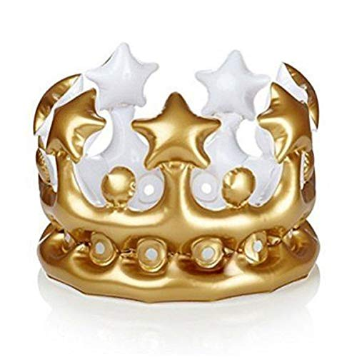 Decorative Decorative - 1pcs Inflatable Gold Crown King Queen The Day Costume Party Halloween Birthday Decor - Decorations Naruto Birthday Cos Crown Cosplay Crown Natsu Tiara King Metal Cospl ()
