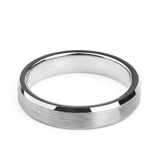 Silver Tungsten Brushed Comfort Wedding