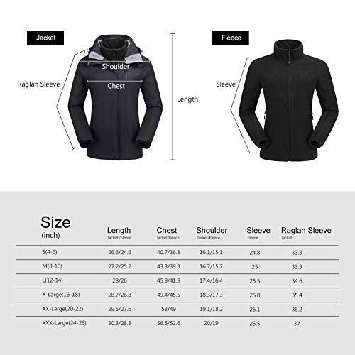 CAMEL CROWN Women's Ski Waterproof Jacket Fleece Inner Breathable Lightweight Rain Coats Hooded Windproof Softshell Snowboard Jacket for Hiking Camping Outdoor Travel by CAMEL CROWN (Image #7)