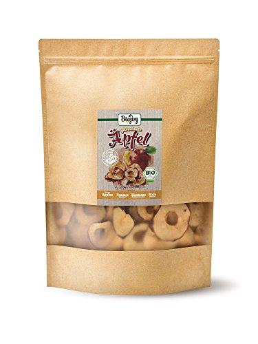 Biojoy Manzanas desecadas bio | 100% trozos de manzana sin azúcar añadido y óxido de azufre | chips de manzana bío sin azúcar y conservantes | rodajas de ...