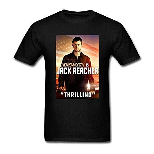RONGBANG Men's Jack Reacher Never Go Back Film Tom Cruise Short Sleeve T-shirt Size L ColorName