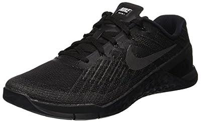 Nike Mens Metcon 3, BLACK/BLACK, 6.5 M US