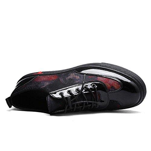 Idea Cornici Mens Metallico Moda Sneakers Da Skate 3d Stampa Nero / Rosso