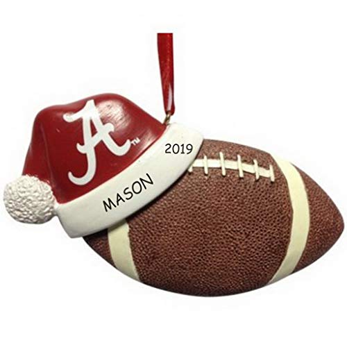 (DIBSIES Personalization Station Personalized Licensed Collegiate Football Sports Christmas Ornament (Alabama))