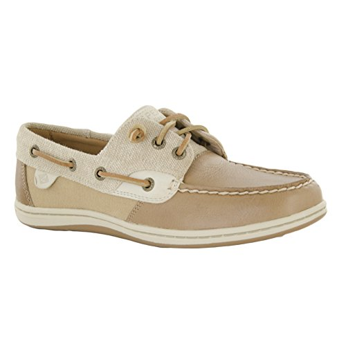 Sperry Top-Sider Womens Songfish Waxy Boat Shoe Linen