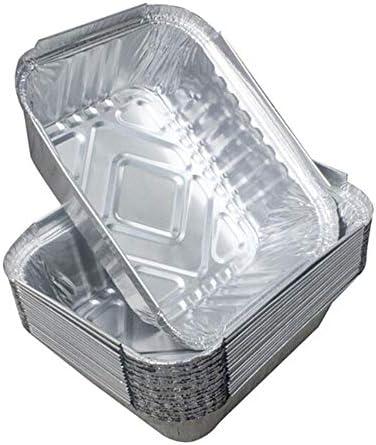 Heng 10 Pcs BBQ Drip Pans Plateaux en Aluminium Graisse Drip Pans Recyclable Grill Catch Tray for Outdoor Supplies
