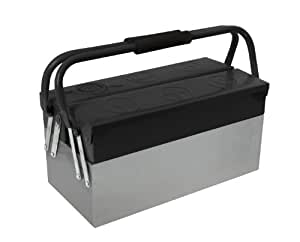 Cogex 405350 - Caja de herramientas metálica (3 compartimentos)