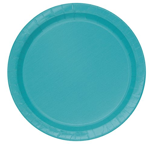 Teal Paper Cake Plates, 20ct (Ocean Blue Dessert)