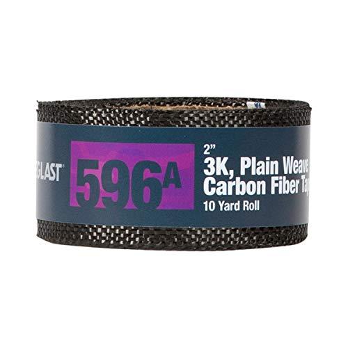 Fibre Glast Carbon Fiber Fabric Tape - 2 Inches Wide - 10 Yard Roll (Carbon Fiber Fabric Tape)