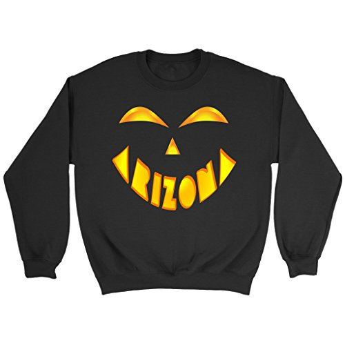Arizona State Jack O' Lantern Pumpkin Face Halloween Costume Sweatshirt, Small -