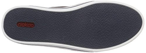 Rieker 19552 Loafers & Mocassins-men - Mocasines Hombre Gris - Grau (cement/anthrazit/kastanie / 40)