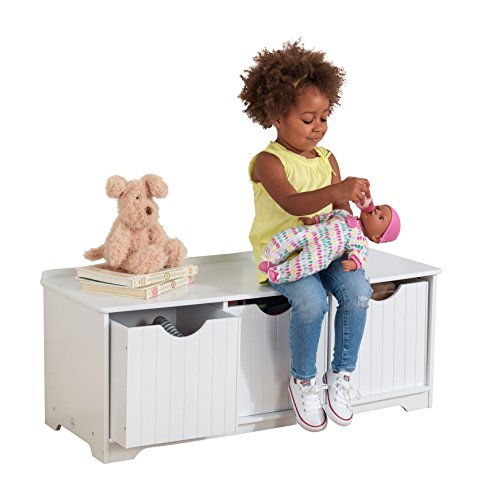 Kidkraft Nantucket Storage Bench White Import It All
