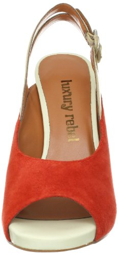 Luxe Rebel Femmes Jag Slingback Pompe Sang Orange