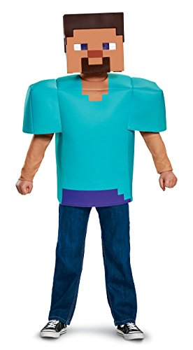 [Steve Classic Minecraft Costume, Multicolor, Small (4-6)] (Awesome Boy Halloween Costumes)