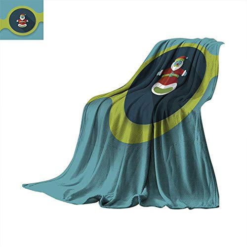 (Angoueleven Warm Blanket Santa Claus Hand Puppet Flat icon with Long Shadow eps Throw Blanket 70