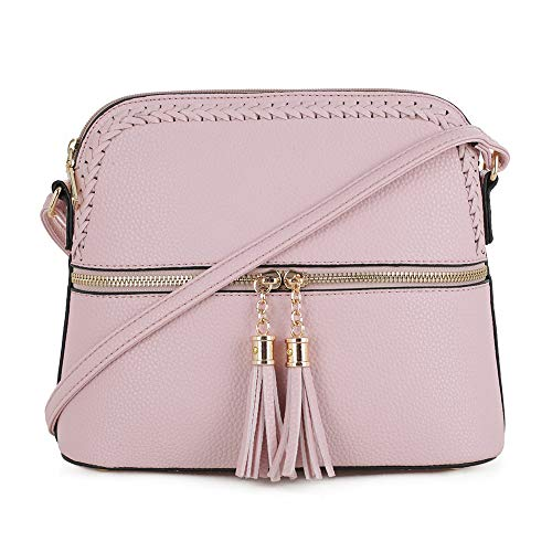 d463733c485be SG SUGU Lightweight Medium Dome Crossbody Bag with Accent and Tassel ...