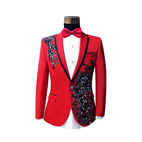 e3a9c4e922e15 Mens Suits Notched Lapel One-Button Wedding Party Blazer Dinner Jacket and  Pants