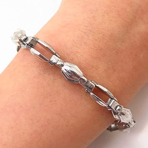 925 Sterling Silver Modernist Link Bracelet 7 1/4