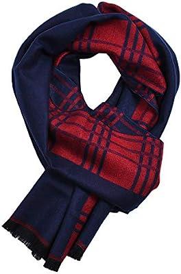 L.J.JZDY Bufandas Moda Hombre Bufanda Ligera de algodón con sensación de Invierno cálido Bufanda Hombres (Color : Red Blue, Size : OneSize): Amazon.es: Hogar