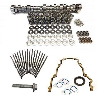 Brian Tooley BTR Turbo LS Stage 1 Cam, Spring Kit with Titanium Retainers, Chromoly Pushrods and Install Gasket Kit LS1 LS2 LS3 LQ4 LQ9 LM7 4.8 5.3 6.0 6.2 (Camshaft, Spring Set and Gasket Kit)