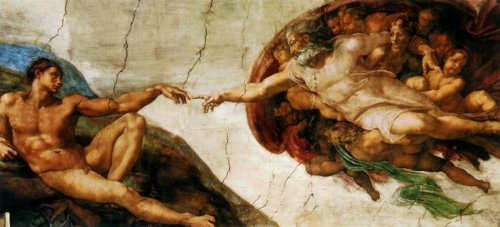 Amazon | 西洋絵画 『アダムの創...