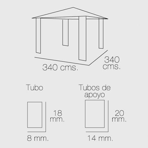 Techo Papillon 8043317 Tela Recambio para Pergola Sagres